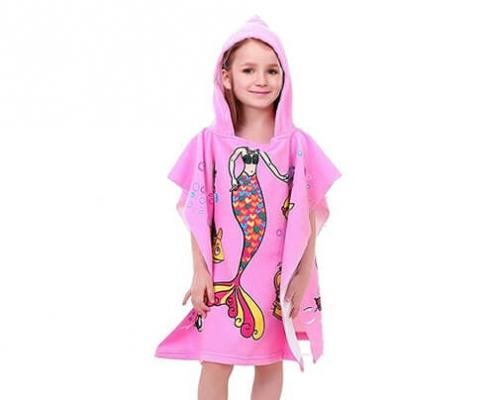 kids poncho towel