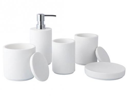 5 pcs polyresin bath set